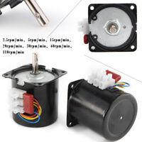 AC 220V 14W High Torque 50Hz Gear-Box Synchronous Motor 2.5//15/20/30/60/110 RPM