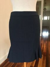 Wool Blend Dry-clean Only Striped Regular Size Skirts for Women