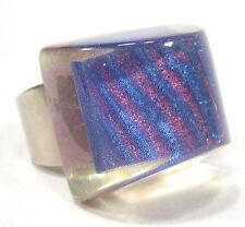 SoHo® Ring Praline Schunkelring hologramm retro Kunstharz großer Fingerring