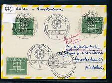 06613) KLM FF Amsterdam - Kuwait 25.9.63, Kte ab BRD MeF CEPT 15PF ESST München