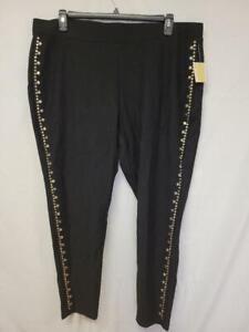 MSRP $135 Michael Kors Womens Pants Black Size 3X