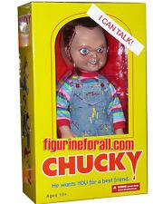 "CHILD'S PLAY TALKING CHUCKY 15"" SNEERING MEGA DOLL Sound Bride Mezco IN STOCK"