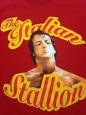 Rocky Balboa Italian Stallion Red Large T-Shirt Boxing Movie Philadelphia