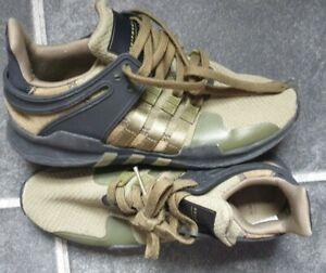 Adidas eqt trainers  olive khaki army style  unisex 7