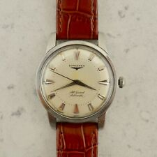 c1956 Vintage Longines All Guard Automatic Conquest watch 19AS ref.9006 in steel