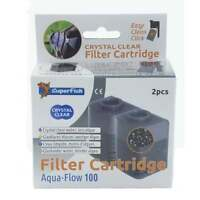 Superfish Aqua Flow 100 Crystal Clear Filter Cartridge Carbon & Zeolite (2 pcs)