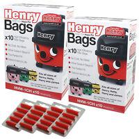 20 x Genuine Numatic HENRY AS200 Vacuum Cleaner Hoover Bags + Air Fresheners