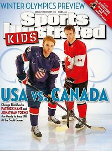 Sports Illustrated Kids 2014 Olympics Toews Cain Blackhawks USA Canada No Label