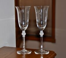 MIKASA  PROMISES (2) CRYSTAL FLUTES / CHAMPAGNE GLASSES