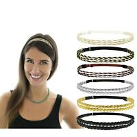 6pcs Adjustable Women Fashion Headbands Braided Plaited Hairbands Disco Hippie