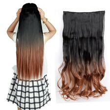 """17""""-30"""" Real Natural Thick 3/4 Full Head Clip in 1PC Hair Extensions Ombre Trz32"""