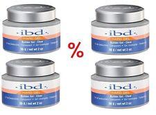 4 x IBD Builder Gel Clear (chiaro) aufbaugel 56g NUOVO Merce Originale * prezzo d'azione *