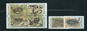 MOLDOVA 1993 WWF INSECTS complete block of 4 and 2 singles VF MNH