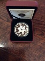 2013 'Winter Snowflake' Crystalized Proof $20 Silver Coin 1oz .9999 Fine