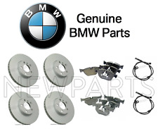 BMW E70 X5 E71 X6 Front & Rear Brake Disc Rotors + Pads + Sensors KIT Genuine