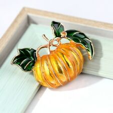Badge Corsage Women Jewelry Gift Ql Enamel Pumpkin Brooches Alloy Collar Pins