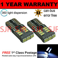 2X W5W T10 501 CANBUS ERROR FREE BIANCO 18 SMD LED INTERNO LAMPADINE IL103901