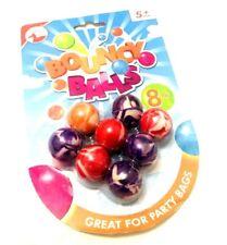 Confezione da 8 MINI Bounce Rimbalzante Palline Festa Di Compleanno Borse Riempitivi Giocattolo per Bambini Ragazzi