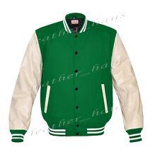 Genuine Leather Sleeve Letterman College Varsity Women Wool Jackets #CRS-WSTR-BB