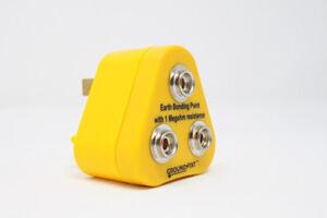 Anti Static ESD Grounding / Bonding Plug 3 x 10 mm Studs - UK Plug