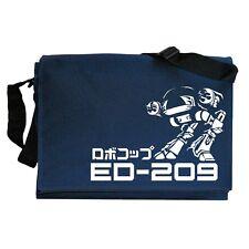 209 Cyborg Robocop inspirado Azul Marino ED azul de hombro de asa larga mensajero