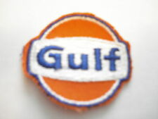 GULF OIL ROUND SMALL BLUE/WHITE/ORANGE CLOTHING PATCH