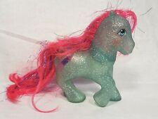 MLP My Little Pony SKY ROCKET Sparkle Pony G1 Vintage Silver Glitter Blue Pink