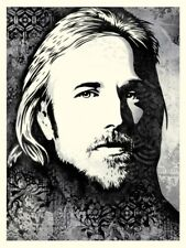 Tom Petty American Treasure Canvas SCREENPRINT SHEPARD FAIREY OBEY GIANT Poster