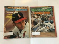 2 Issues of Sports Illustrated Magazine 1977 and 1981 - Baseball - World Series