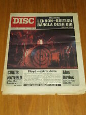 DISC AND MUSIC ECHO FEBRUARY 5 1972 JOHN LENNON PINK FLOYD CURTIS MAYFIELD