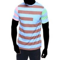 Black Jack Hommes Multi Rayure Ras Cou Poche T Shirt > Taille S > $28