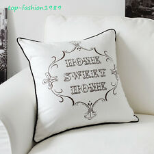 "New Sweet Home Pattern Throw Pillow Case Decorative Cushion Cover Sham 18"" x 18"""