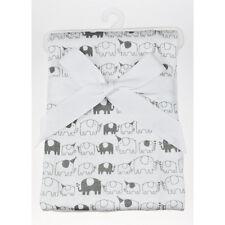 Playette Jersey Wrap - 100% cotton - Elephant Party Print - 100cm x 80cm