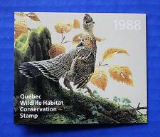 Canada (QU01) - 1988 Quebec Wildlife Habitat Conservation Stamp (MNH)