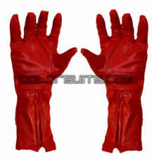 Super Hero Red Synthetic Leather Gloves captain america Cosplay