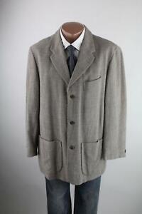 Mexx Men beige-graues Tweed-Sakko Gr.50/M Wollmischung mit Leinen Top Zustand