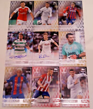 Topps Showcase UEFA CHAMPIONS LEAGUE 2017 AUTOGRAPH & Numbered CARDS