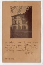 Picture postcard of 2 Whitehall, Maybole sent to Switzerland (C33201)
