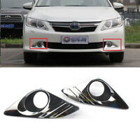 For 2012 2013 2014 Toyota Camry Chrome Cover Bumper Fog Lights Lamps Left+Right