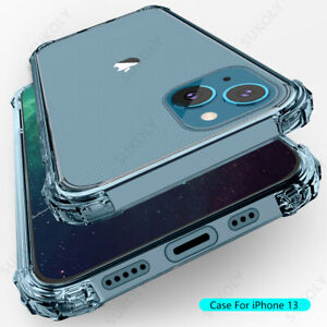 For iPhone 13 12 Pro Max 11 XS XR 7 8 SE Shockproof Rubber Clear Soft Case Cover
