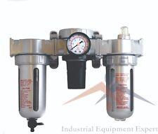 12 Mid Flow Combo Inline Particulate Filter Moisture Trap Lubricator Regulator