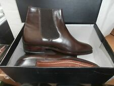 MENS LEATHER  CHELSEA BOOTS   BROWN SIZE  7.5  AS SHOWN    IN BOX