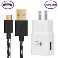 6ft Micro USB Fast Charger Data Sync Cable Cord For Samsung HTC Android LG