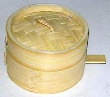 "Bamboo steamer 2pcs 9cm/3.5"" diameter 3cm deep Superior quality"