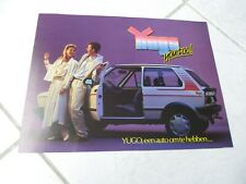Zastava Yugo 45 55 1987 brochure catalogue commercial sales marketing