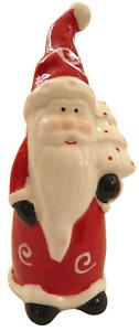 Cute Christmas ceramic red Santa German ornament