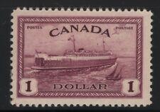 Canada 1946 $1 Train Ferry PEI Sc# 273 NH
