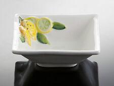 BASSANO quadrat. Servierschale Müslischale Zitronen italienische Keramik 13x4,5