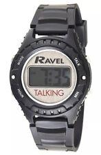Ravel Digital Unisex Talking Watch Black R.TK1