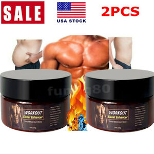 2 Pack Slimming Cream Fat Burning Muscle Weight Loss Body Sweat Enhancer Abs Gel